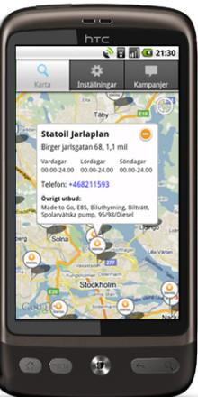 Statoil i mobilen: Nu också för Android!