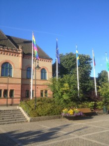 Sjöbo kommun hissar regnbågsflaggan