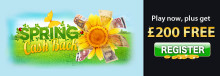 Spring Cashback at Lucky Win Slots | LuckyWinSlots.com!