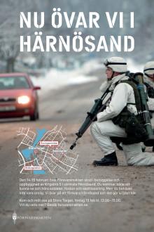 Affisch Försvarsmakten i Härnösand