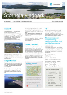 Nyhetsbrev Stoheia vindpark #4 - 2017