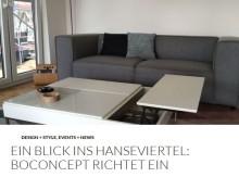 Ein Blick ins Hanseviertel Lüneburg: BoConcept richtet ein