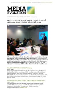 Newsletter 10.12.13 - SNEAK PEEK DESIGN PÅ FREDAG & BILJETTSLÄPP NÄSTA MÅNDAG!