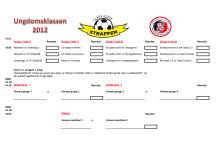Spelschema Ungdomsklass Glada Hudik Straffen, 31 aug - start kl. 16 - Glysisvallen