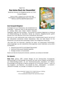 """Waschzettel zu """"Das kleine Buch der Hausmittel"""""""