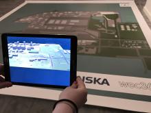 Virtuell rundvanding i obyggd industripark med AR-app