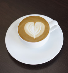How to make a coffee heart