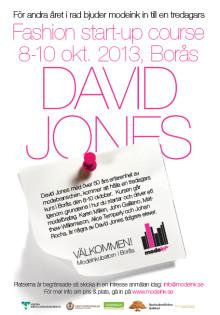 Påminnelse om Modeinkubatorns tredagarskurs med David Jones