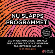 Vetenskapsfestivalen släpper årets program
