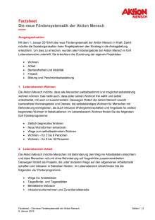 Factsheet zur neuen Fördersystematik