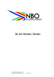 Projekt Bo och förvalta i Norden