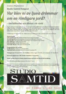 Sista chansen att OSA till Studio Samtid Hangout!