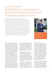 Professor Kjell Öberg: Neuroendokrina tumörer – nya behandlingsstrategier