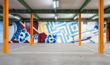Urban Art im Parkhaus - Villeroy & Boch gestaltet Parkhaus für Mitarbeiter um