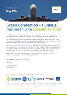 Press invitation: Green Connection at Stockholm Arlanda Airport