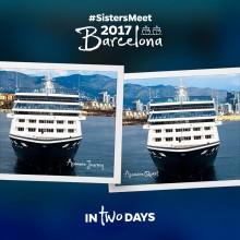 De to søsterskipene møtes i Barcelona