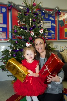 Bellway makes festive delivery to Radcliffe Children's Centre