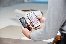 Modern avståndsmätare med Bluetooth
