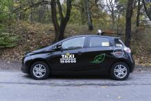 Renault ZOE i Taxi Stockholms elbilsflotta
