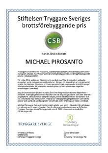 Diplom - Michael Pirosanto, Gårdstensbostäder AB