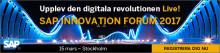 Välkommen till SAP Innovation Forum 15. mars på Stockholm Waterfront