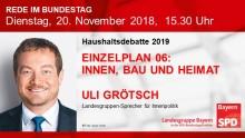 Uli Grötsch in der Haushaltsdebatte 2019