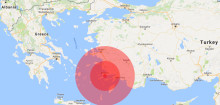 Earthquake strikes in the Aegean Sea between Greece and Turkey