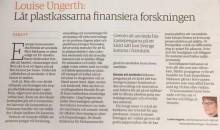 Debattartikel i Icanyheter: Låt plastkassarna finansiera forskningen