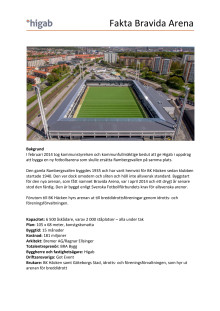 Faktablad Bravida Arena