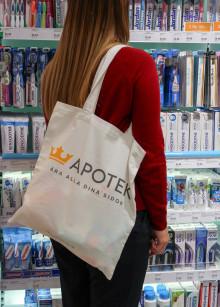 Förbrukning av plastpåsar ned 38 procent på Kronans Apotek