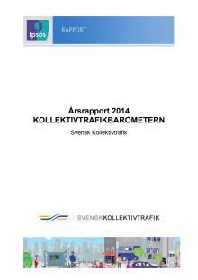 Årsrapport Kollektivtrafikbarometern 2014 med analyser och sammanfattningar