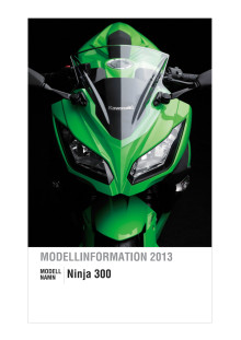 Modellinformation Ninja 300