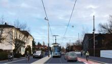 I dag stenger Grefsenveien for inn- og utkjøring med bil i Storokrysset