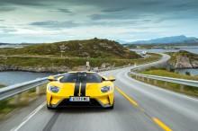 Ford GT kör Atlanthavsvägen i Norge – slår banrekord vid världens nordligaste racebana
