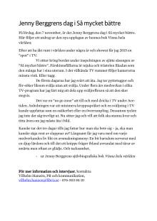 Jenny Berggrens dag i Så mycket bättre som PDF