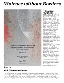 Violence without Borders - Paradigm, policy and praxis concerning violence against women