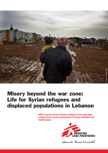 Misery behind the war zone - syriska flyktingar i Libanon