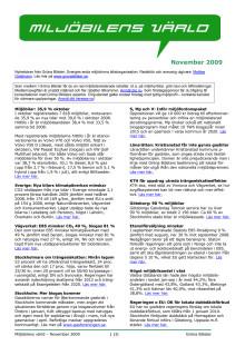 Gröna Bilisters nyhetsbrev för november 2009