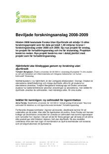 Forskningsanslag 2009