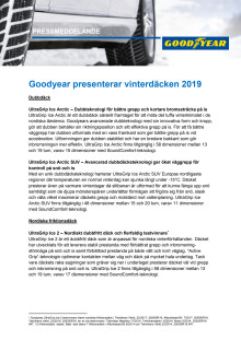 Goodyear presenterar vinterdäcken 2019