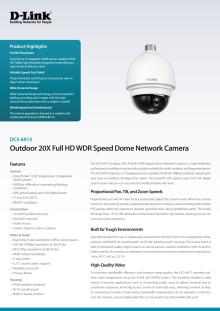 Produktblad - IP-kamera D-Link DCS-6915