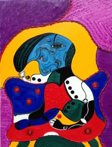 """""""The Thinker"""". Mas.s latest painting to be shown on his one day Solo show in Kingston Upon Thames this Sunday."""