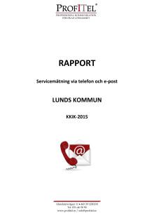 Servicemätningen 2015 Lund
