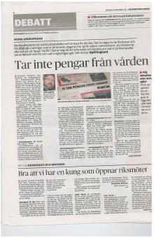 """Debattartikel """"NorrlandsOperan tar inte pengar från vården"""""""