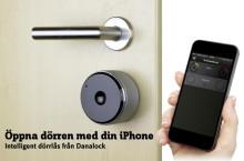 Öppna dörren med din iPhone – intelligent dörrlås från Danalock Bluetooth