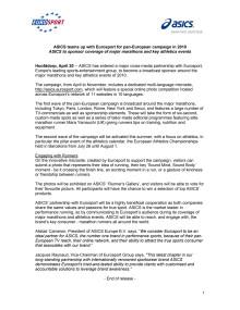 Samarbede Eurosport och ASICS 2010-2012