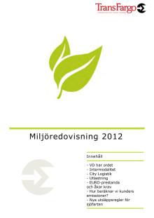 Miljöredovisning för TransFargos verksamhet 2012