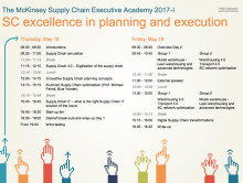 McKinsey Supply Chain Executive Academy 2017
