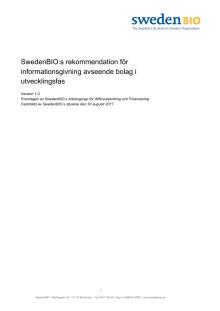 SwedenBIOs rekommendation för informationsgivning