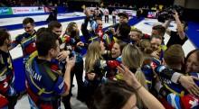 Curling: Seger för lag Hasselborg och lag Edin tillsammans med  världslaget i Continental Cup